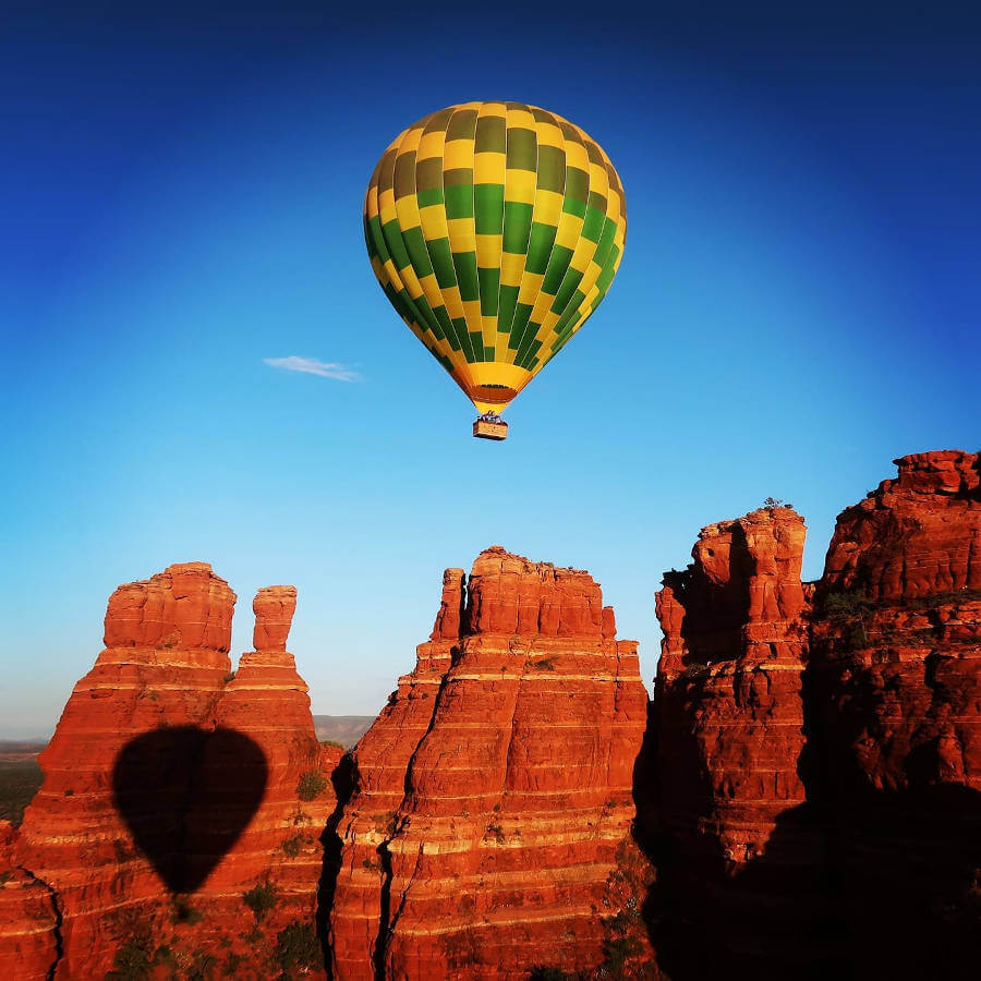 Arizona Mountains with Balloon