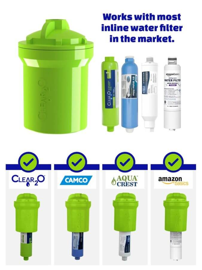 DirtGUARD Inline Prefilter Works With Most Water Filters