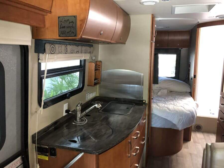 Class B Plus kitchen and bed