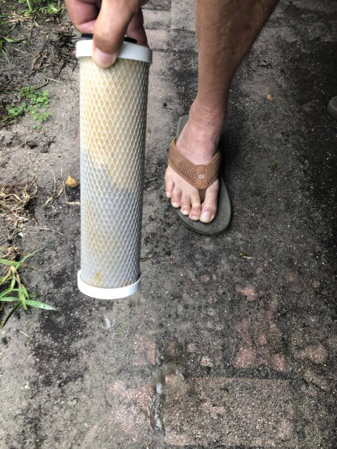 RV Water Filter After 1 month of use