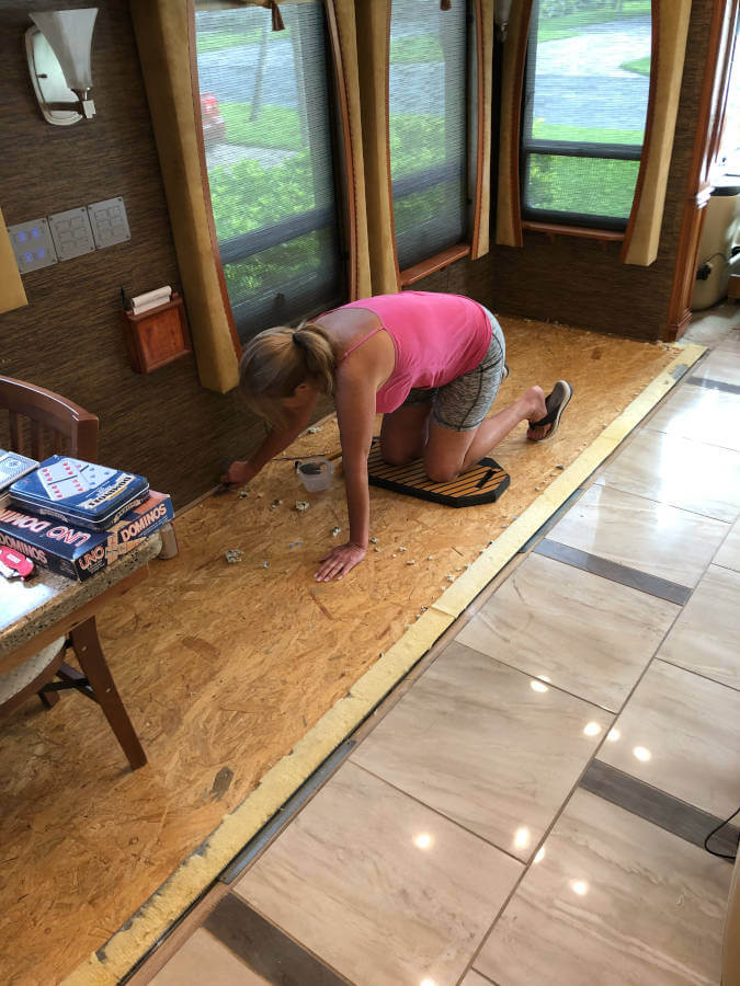 Preparing RV Floor for Vinyl Planks