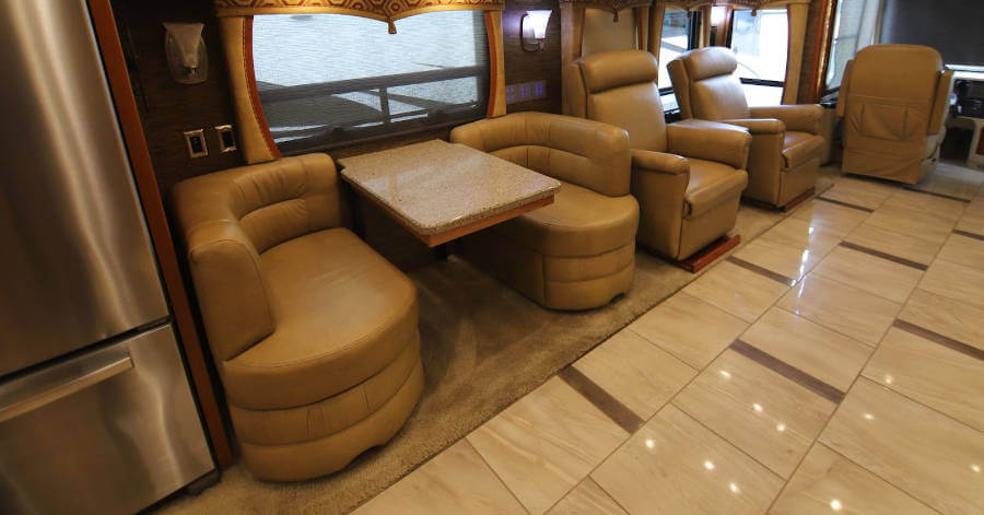 RV Living Room with carpet