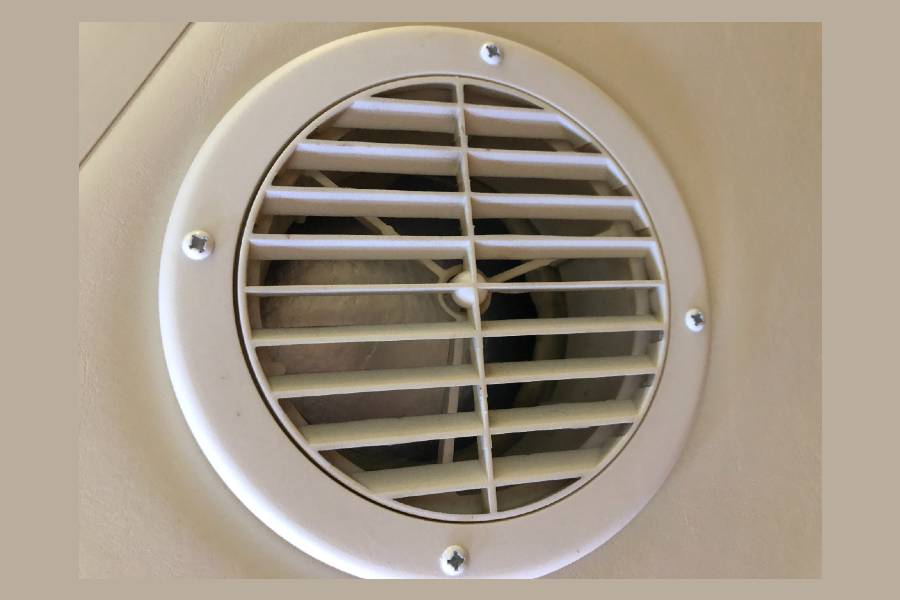 RV AC Vents on Inside Ceiling
