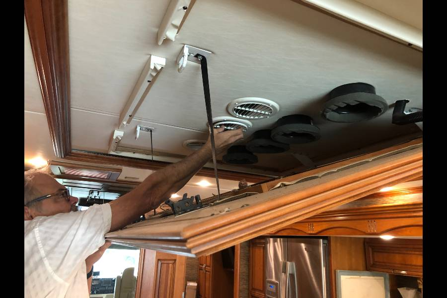Cleaning RV AC Vents